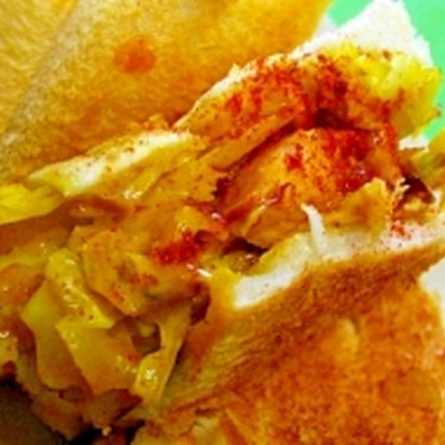 チキンの粒マスタードサンドカレー風味