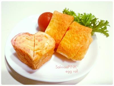 【Recipe:サーモンピンクの玉子焼き】お素麺始めました。