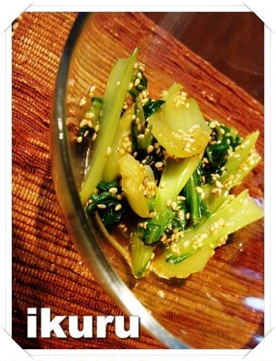 簡単!チンゲン菜のウマウマ♪ナムル