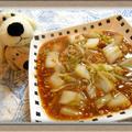 『白菜の甘辛肉味噌あんかけ』残り野菜と豚ひき肉で簡単に