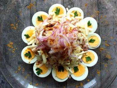 >ヘルシーさ満載!ヴィーガンシュレッドと白いんげん豆のサラダ カレー風味 by yukoさん