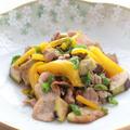 茄子と甘とうがらしの豚肉炒め(ガーリック風味)☆簡単フライパンレシピ