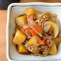 【じゃがいも】野菜のうまみがギュッ!ご飯もススム、無水肉じゃが。