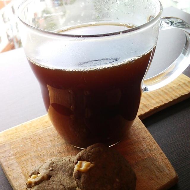 ほうじ茶とクルミのクッキー