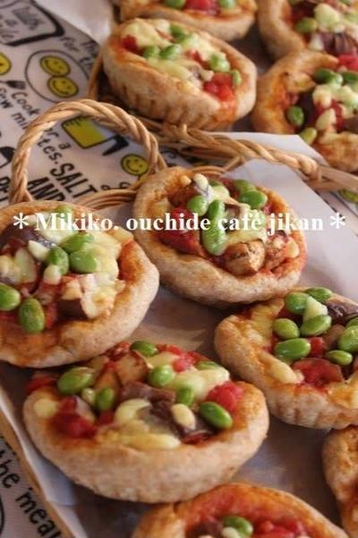 ナスのアラビアータのフォカッチャ&カレーソーセージマフィン(今月のパン教室)