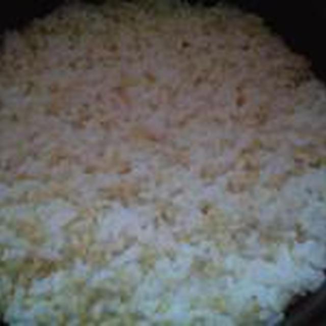 湯立てで白米(666)。。。特別栽培米広島世羅高原産コシヒカリ玄米(あいざわ米店)福井県産越前たけふ特別栽培米コシヒカリ白米(あいざわ米店)