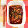 温め直してもやわらかい。鶏もも肉のわさび醤油