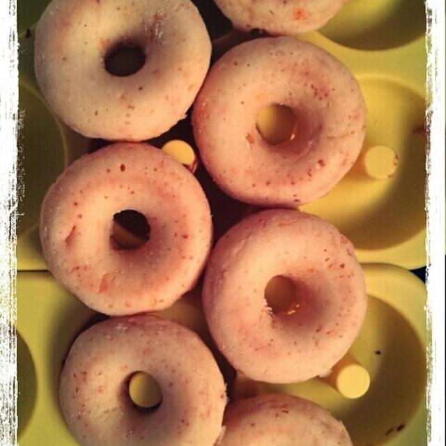 自家製みかんジャムの焼きドーナツ