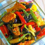 日持ち1週間♡野菜がモリモリ食べれちゃう♡『夏野菜のカラフル♡揚げ浸し』《簡単*節約*作り置き*お弁当》