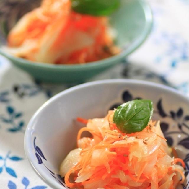塩麹レシピ☆人参と玉ネギの柚子風味マリネ