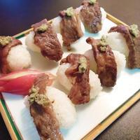 カルビの握り寿司