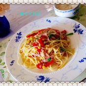 彩りベーコン・スパゲッティー