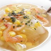 白菜とコーンの中華風スープ☆