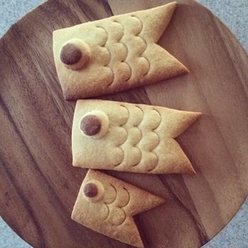 子どもの日に鯉のぼりクッキー♪