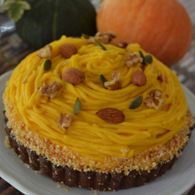 ♪★かぼちゃのモンブランタルト★ほっこり秋のタルト♪