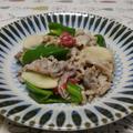 豚肉と新生姜の梅肉炒め
