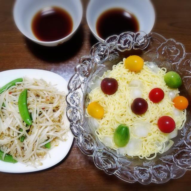 【家ごはん】 つけ麺 焼きそば 素麺 うどん 蕎麦など~ 麺Day *日清の ざるつけ麺