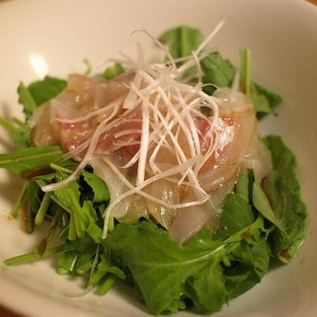 「ぶちうまい」つゆでピリ辛お刺身サラダ