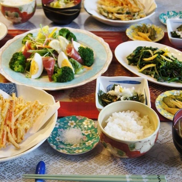 【菜園野菜de朝ご飯】娘が来た時に作りました簡単ご飯です^^