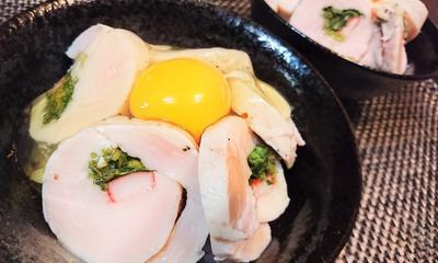 【レシピ】鶏ハム活用★ガッツリ飯【落し卵鶏ハム丼】
