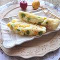レンジで4分簡単♪ホットケーキミックスで、コーンと枝豆のチーズ蒸しパン(ホケミ)