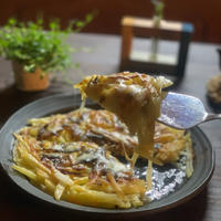 じゃがいもと玉ねぎのガレット焦げをチーズで隠す技!