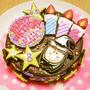 娘の誕生日にオーダーしたアイシングクッキーのケーキが可愛い