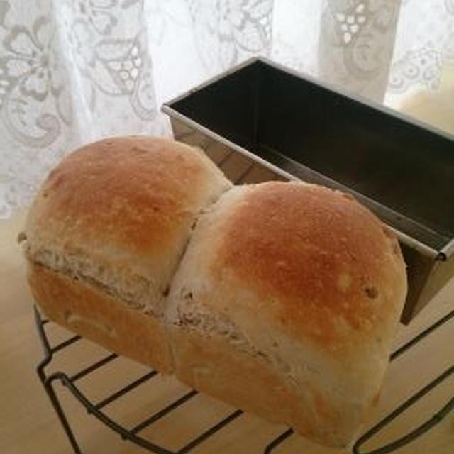 ミックスナッツの食パン♪あんバター・チョコバナナのせ♪