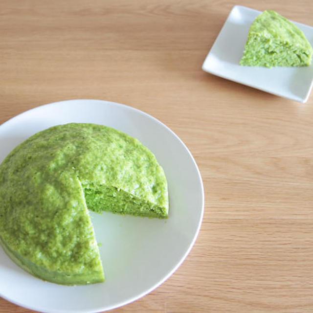 小松菜の蒸しケーキの作り方の巻