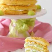 メロンクレープケーキ。(重ねスイーツ)
