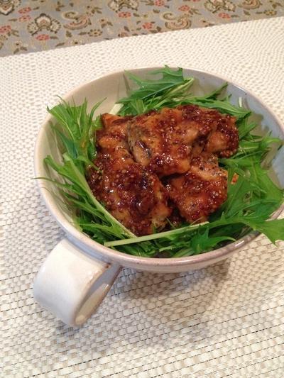 お弁当にもおすすめ!ハニーマスタードソースで「鶏てりどんぶり」