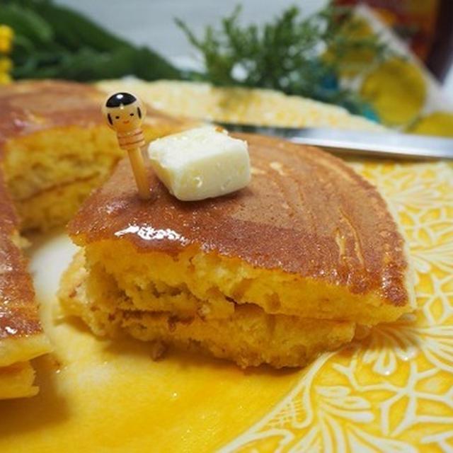 餅入りもっちりパンケーキ♪