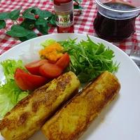シナモンバナナのロールフレンチトースト