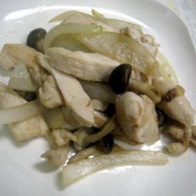 鶏マリネと玉ねぎのソテー