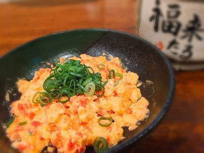 電子レンジで簡単おつまみレシピ!紅生姜入り半熟スクランブルエッグの作り方