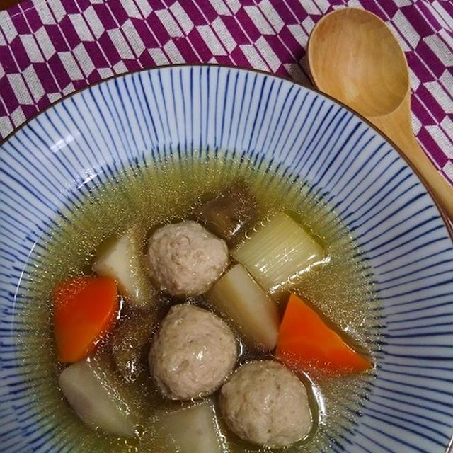 鶏団子&根菜の和風ポトフ