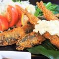 ■晩ご飯のおかず【丸ごと豪快に鮎フライ!!酢玉葱活用のタルタルソースで戴きました^^】