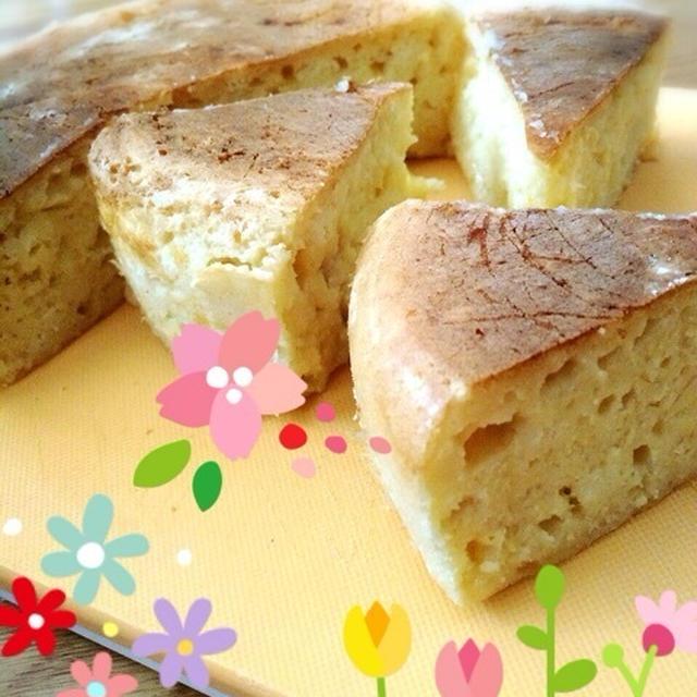 炊飯器でチーズ豆腐ケーキ