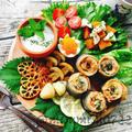 秋刀魚ロール天ぷらで朝ごはんプレート