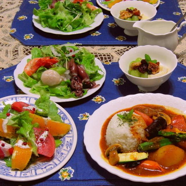 牛すじ肉と焼きド野菜のスパイシーカレー