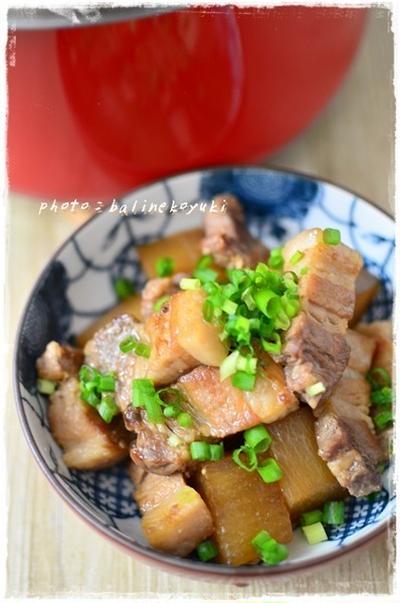 【圧力鍋レシピ】時短!ミニサイズ「大根と豚の角煮(メープル風味)」
