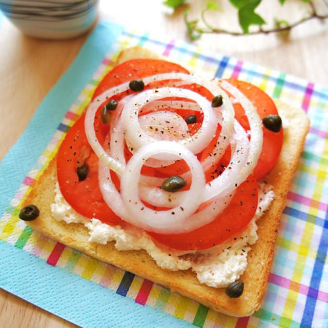 1分で簡単☆スモーサーモンのような味わいトマトトースト☆