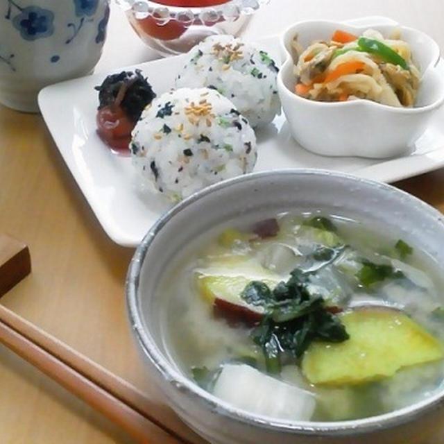 和食で休日朝ご飯☆