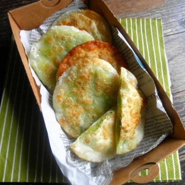 【簡単!!カフェごはん】餃子の皮で*アボカドとチーズのパリパリ焼き