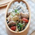 【お弁当おかずレシピ】おかず2品でも大満足「厚揚げと鶏肉の甘辛炒め」弁当