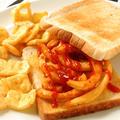 Chip butty(フライドポテトのサンドイッチ)