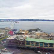 シアトルに来ています。パイクプレイス前の最高のロケーションに宿泊中♪