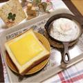 喫茶店のモーニングトースト