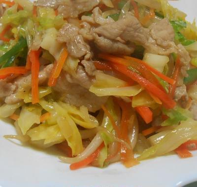 簡単に作れて美味しい 野菜炒め