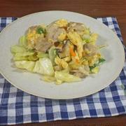 ふわとろ卵とじ豚肉とシャキシャキ野菜炒めの作り方のコツ
